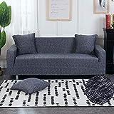 Funda de sofá Floral elástica Fundas de sofá elásticas para Sala de Estar Funda sofá Protector de Muebles Fundas sofás con Chaise Longue A15 4 plazas