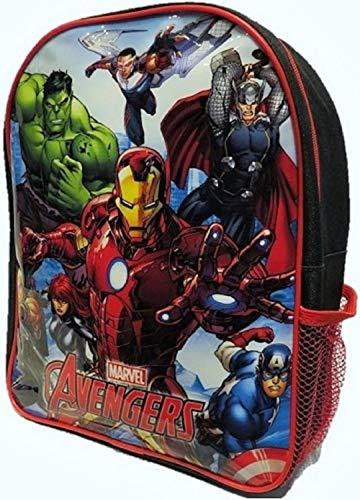 Iron Man, Hulk, Thor & Captain America Avengers - Boys Junior Red Backpack Rucksack School Bag - 31cm x 24cm x 10cm - Official Marvel Licensed Merchandise.