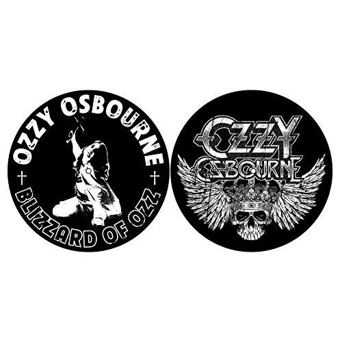 OZZY OSBOURNE DJ SLIPMAT FILZMATTE BLIZZARD OF OZZ/CREST LOGO - 2er SET