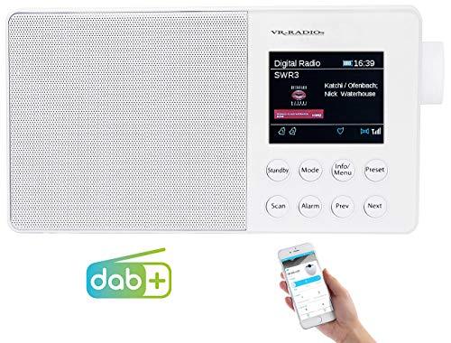 VR-Radio Akku Radio: Mobiles Akku-Digitalradio mit DAB+, FM, Bluetooth & Farbdisplay, 10 W (Radio DAB)