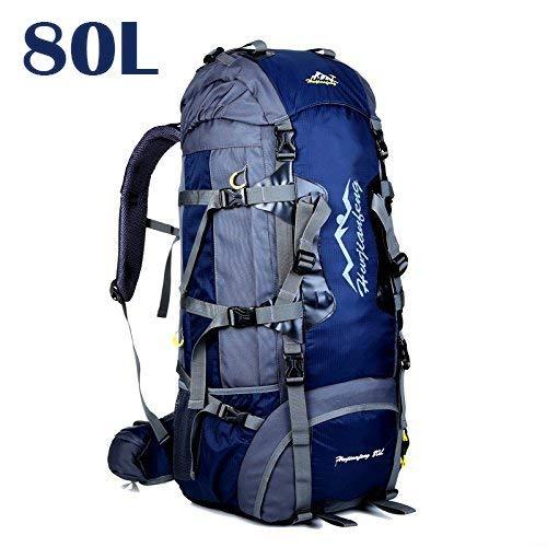 50L 80L Zaini da Escursionismo, Ideale per Lo Sport all'aperto, Trekking, Viaggi di Campeggio, Montagna. Borsa per Alpinismo Impermeabile, Daypack da Arrampicata da Viaggio, Zaino (80L Blu scuro, 80L)