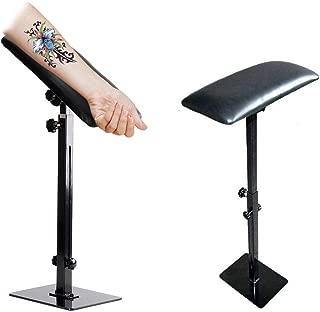 Tattoo Armrest Stand, Portable Adjustable Height Pad Soft PU Leather Pad Leg Arm Rest Studio Chair