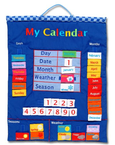 Wallhangings - Calendario de tela para pared (en inglés) , color/modelo surtido