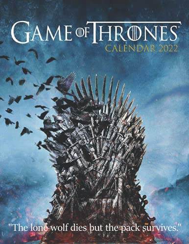 Game of Thrones 2022 Calendar: 18-month Grid Monthly Yearly Calendar for all ages and genders with 8.5'' x 11''