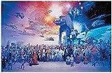Guerra de Las Galaxias,Puzzle 1000 Piezas,Juegos De Puzzle para Adultos Rompecabezas De PapelA884(38 * 26cm)