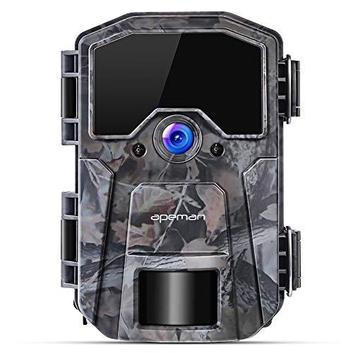 APEMAN Cámara de Caza 20MP 1080P Cámara de vigilància de la Vida Silvestre,Cámara de Juego de detección Nocturna sin LED de Brillo de 940nm IR,Lapso de Tiempo,Temporizador,Diseño Impermeable IP66