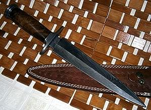 RAM-05 Damascus Steel Dagger Knife – Walnut Wood Handle