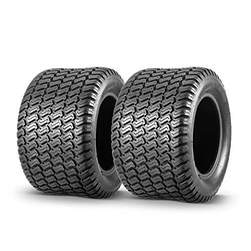 MaxAuto 2Pcs Lawn & Garden Turf Tire 18x10.50-10 18x10.50x10 Tubeless 4 Ply P332