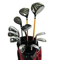 WORLD EAGLE(ワールドイーグル) 5Z メンズ ゴルフ クラブ フルセット ブラック FレッドバッグVer. 右用 フレックスS WE-5Z-BK-S-FRD