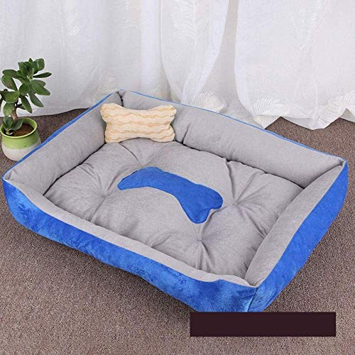 YYhkeby Cama for Perros Perro Caliente colchón de la Estera del Gato de casa de Invierno Suave Cama Nido Perros Cestas Perrito Nest-Grey_XS, Azul, XS Jialele ( Color : Brown , Size : Xlarge )