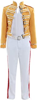 Men's Costume Suit for Queen Lead Vocals Freddie Mercury Cosplay