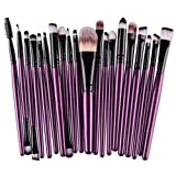 ITISME-ITISME-20 Pcs/Set 2019 Pas Cher Maquillage Brush Set Makeup Brushes Kit Outils Maquillage Professionnel Maquillage Pinceaux Yeux Pinceau Pour Les +1Pc Houppettes à Poudre (R)