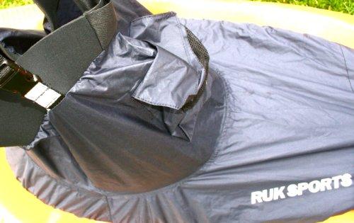 RUK Spritzschutz für Kanus/Kajaks, Nylon mit Neopren, Taillentaschen und Hosenträger