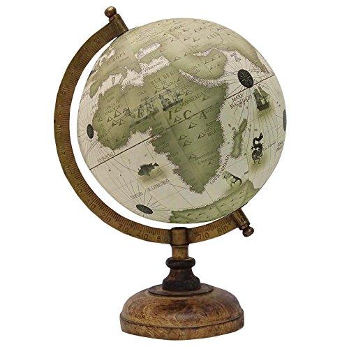 Dekorative Rotating Globe Weiß Ocean Earth Weltgeographie Home Decor 13
