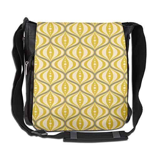 Doinh Retro-Mitteltasche, gelbe Untertasse, Canvas, Messenger-Bag, geneigte Schultertasche, geeignet für Männer und Frauen