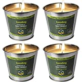LucaSng Citronella Candles Outdoor 6 OZ 4 Pack Candle Set for Outside Indoor Party Home