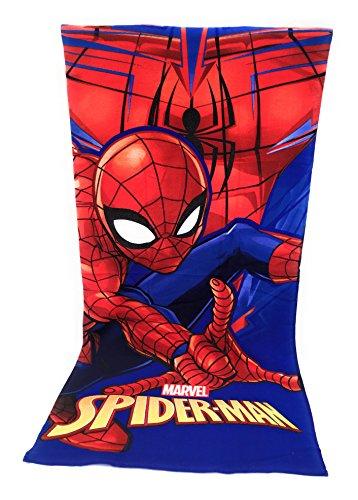 Toalla de playa, toalla de playa microfibra–70x 140cm–Spiderman–Marvel–Disney