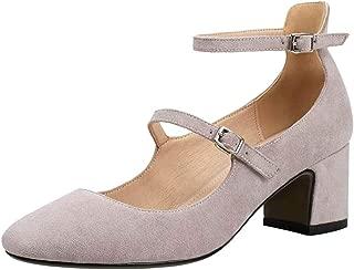 BeiaMina Women Fashion Mary Janes Court Shoes