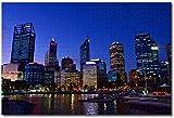 Awttmua Australia Perth Puzzles para Adultos Niños 1000 Piezas Juego De Puzzles De Madera para Regalos Decoración del Hogar Recuerdos Especiales De Viaje