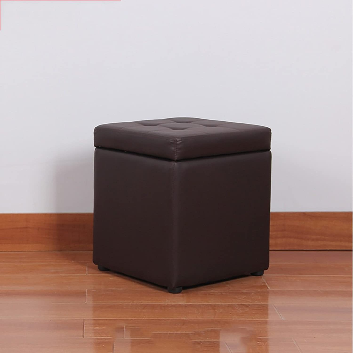 XRXY Creative Footstool   Changing His shoes Stool   Fitting Room Square Stool   Living Room Storage Stool (11 colors Optional) ( color   Brown )