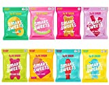 Smart Sweets Variety Pack: 8 total, 1 of each flavor: Sweet Fish, Gummy Worms, Fruity Bears, Sour Bears, Sour Buddies, Peach Rings,Sourmelon Bites, Red Twists. Low Carb, Low Sugar, Keto-Friendly, Stevia Sweetened. All items are bundled together in a ...
