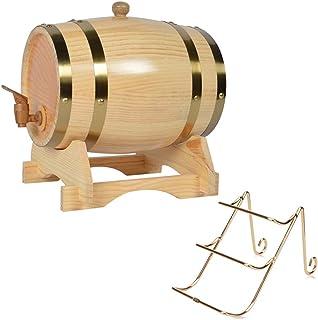 Baril en Chêne Vieillissant 1,5 L, Distributeur de Vin en Bois Durable Avec Robinet, Cadeau Porte-bouteilles, Utilisé pour...