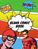 Blank Comic Book: Draw Your Own Comics , Notebook and Sketchbook for Kids and Adults to Unleash Creativity, blank comic book draw your own comics, 120 Unique Blank Comic Pages - A Large 8.5' x 11