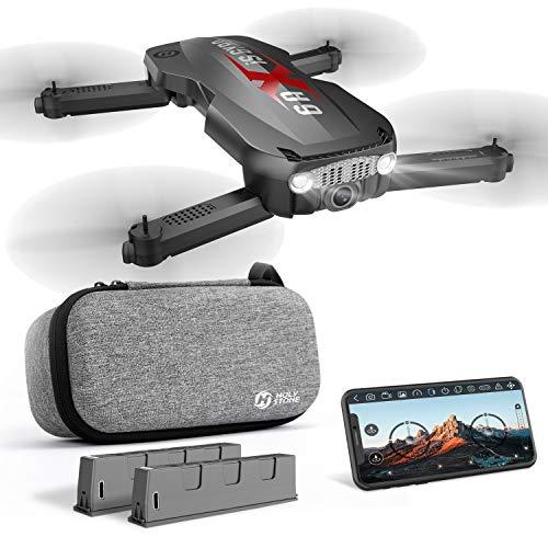 Holy Stone ドローン 折りたたみ式 カメラ付き 小型 収納ケース付き ポケット オプティカルフロー 1080P バッテリー2個 飛行時間20分 生中継可能 高度維持 国内認証済み モード1/2自由転換可 コントローラーなし HS160Pro