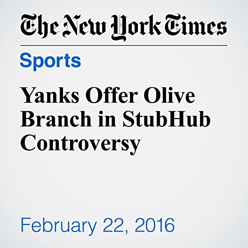 Yanks Offer Olive Branch in StubHub Controversy cover art