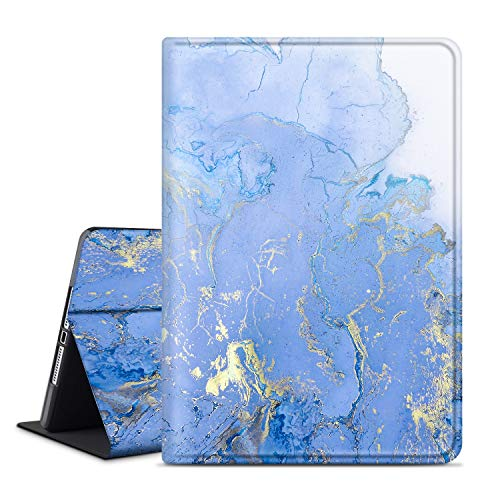 INSSISAIN iPad Air 2 9.7' Case, iPad 6th/5th Generation Case, Soft TPU Back, PU Leather Protective Smart Cover with Auto Sleep/Wake for Apple iPad Air 1/2, Purple Marble