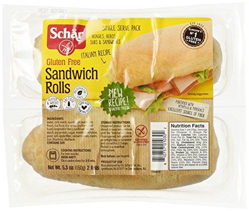 Schar Gluten Free Sandwich Rolls, 5.3-Ounce