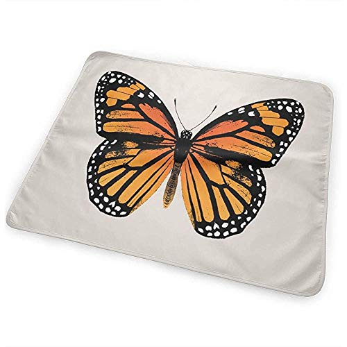 Matelas À Langer,Monarch Butterfly Aa Funny Stylish Diaper Changing Mats For Todller Crib Car 65x80CM