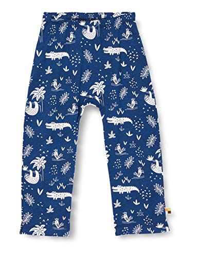 Loud + Proud Pant Allover Print Organic Cotton Pantalon, Bleu (Ultramarin UL), 62/68 Bébé garçon