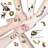 Oblique-Unique® Weihnachten Weihnachtsmann Sticker temporäre Tattoos I farbenfrohe Weihnachtsmotive