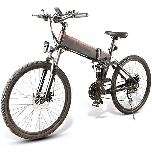 YDBET Bicicletas Plegables eléctricos para Adultos, Bicicletas de montaña Plegable de MTB...