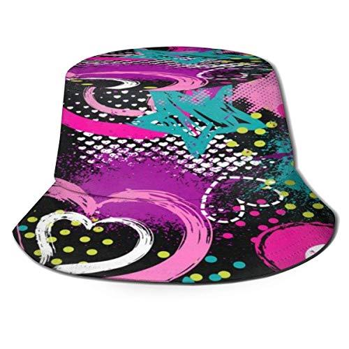 Yearinspace Unisex cubo sombrero de sol bolsa de lona soporte de torneo de baloncesto ala ancha protección solar al aire libre caminar gorras de pescador para hombres mujeres jóvenes color7
