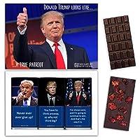 "DA CHOCOLATE キャンディお土産TRUMPチョコレートセット1箱7.2x5.2 ""3オンス各チョコレート4x2"" (DARK Strawberry Date Cherry)"