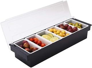 Condiment distributeur boîte en plastique plateau contenant Frozen salade fruits végétaux assiette réfrigérée Caddy avec c...