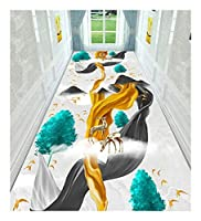 CnCnCn 現代アイルラグ回廊ホワイエエントランスノンスリップ (Color : A, Size : 80x300cm)