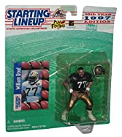 WILLIAM ROAF / NEW ORLEANS SAINTS 1997 NFL Starting Lineup Action Figure & Exclusive NFL Collector Trading Card by Starting Line Up