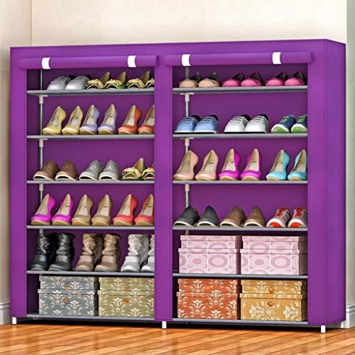 M-YN Zapatero 6-Tier Shoe Rack de Almacenamiento, Zapato Organizador, Zapato de Tela Shelf Permanente gabinete, for 36 Pares de Zapatos con Prueba de Polvo de la Cubierta (Color : C)