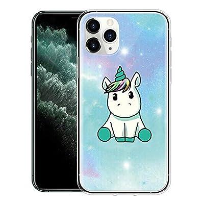 Yoedge Funda iPhone 11 Pro MAX, Ultra Slim Cárcasa Silicona Transparente con Dibujos Animados Diseño Patrón Bumper Case Cover para iPhone 11 Pro MAX (Unicornio)
