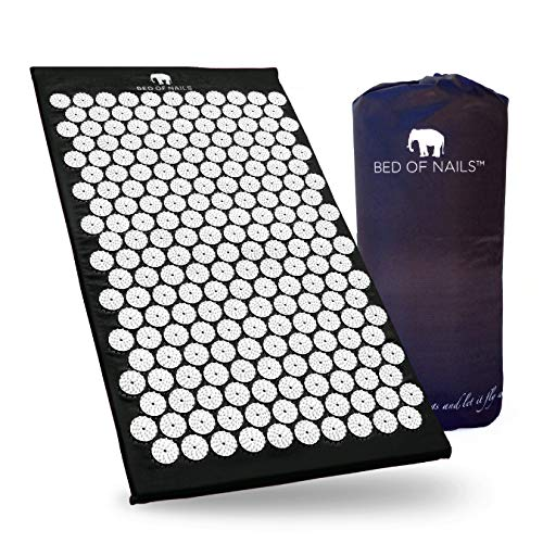 Bed of Nails The Original Acupressure Mat for Pain and Relaxation Black