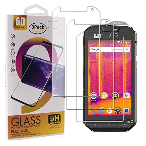 Guran 3 Paquete Cristal Templado Protector de Pantalla para Cat S60 Smartphone 9H Dureza Anti-Ara?azos Alta Definicion Transparente Película