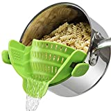 Clip on Pasta Strainer for Pots Silicone...