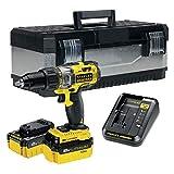 STANLEY FATMAX FMCK625M2G-QW - Taladro percutor 18V, 27.200 ipm, con 2 baterías litio de 4Ah y caja para herramientas
