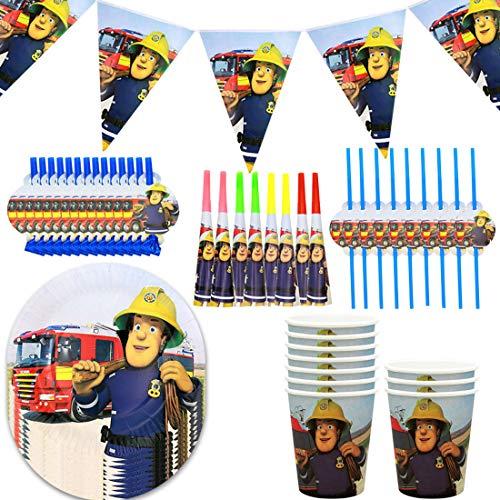 Conjunto de Suministros de Fiesta de Bombero Sam, decoración de cumpleaños de...