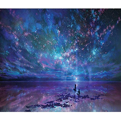 Mobicus 5D DIY Diamond Painting By Number Kits,Night sky(16X12inch/40X30CM)