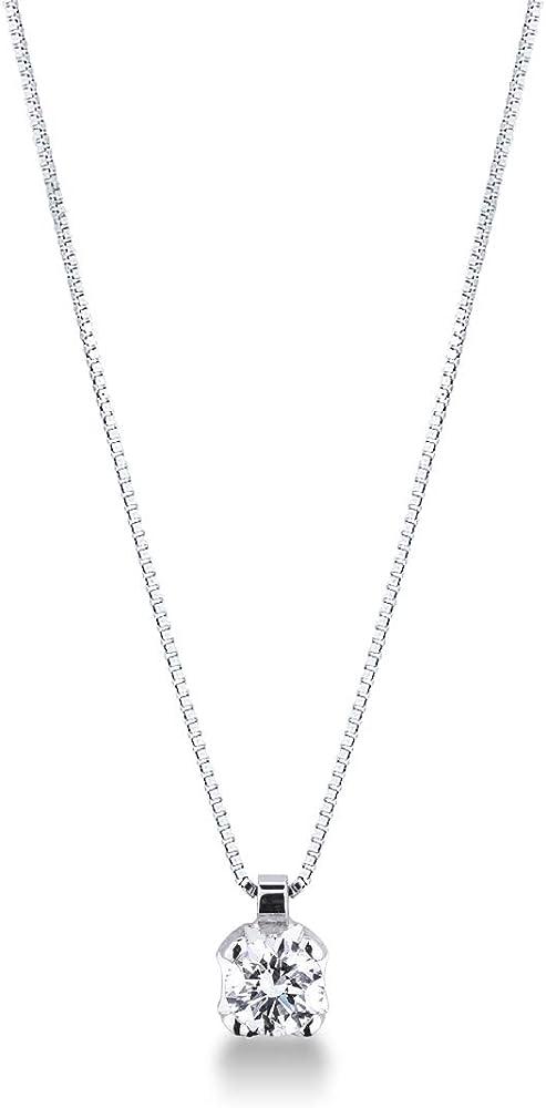 gioielli di valenza collana in oro bianco 18k con diamante 0,50 carati pu05050bb