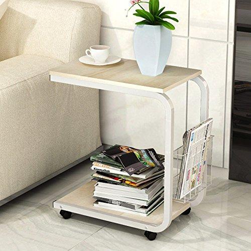 XIN moderne minimalistische koffietafel, slaapkamer tafel, mobiel nachtkastje, woonkamer mini-bank/theetafel/mobiele bureau/laptop tafel